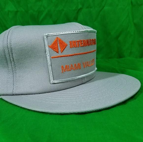 d42fa6f8ef9 Vtg International Trucking Hat Patch NWOT Snapback